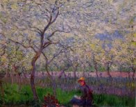 Murales an orchard in spring