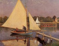 Murales boaters at argenteuil