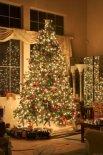 Lienzo árbol de navidad brillante