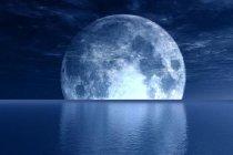 Murales Luna noche sobre el mar