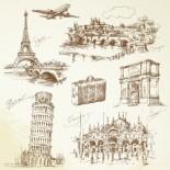 Murales Ciudades mundo viajes antiguo