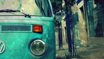Murales Furgoneta azul