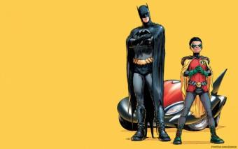 Murales Batman Y Robin Con El batmovil