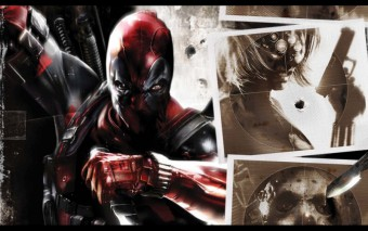 Foto mural Collage De Escenas De Dead pool