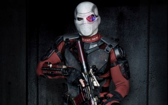 Murales Deadshot con arma en Escuadron Suicida