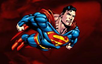 Murales Dibujo De Superman volando
