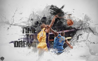 Murales Kobe Bryant and Emeka Okafor Basketball