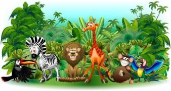 Murales Animales selva