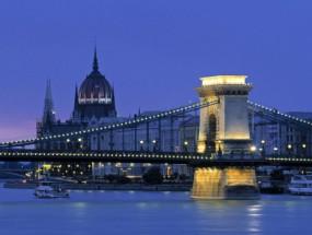 Murales Chain Bridge Budapest Hungary