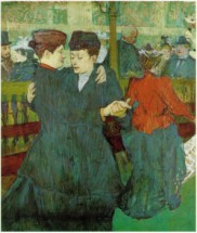 Murales At the Moulin Rouge, Two Women Waltzing