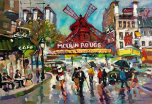 Murales Moulin rouge