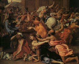 Murales The rape of the Sabine Women