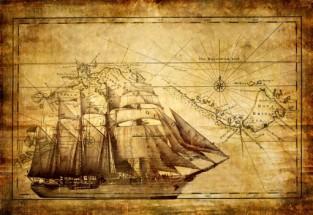 Murales barco pergamino