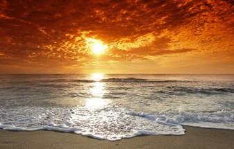 Murales playa atardecer
